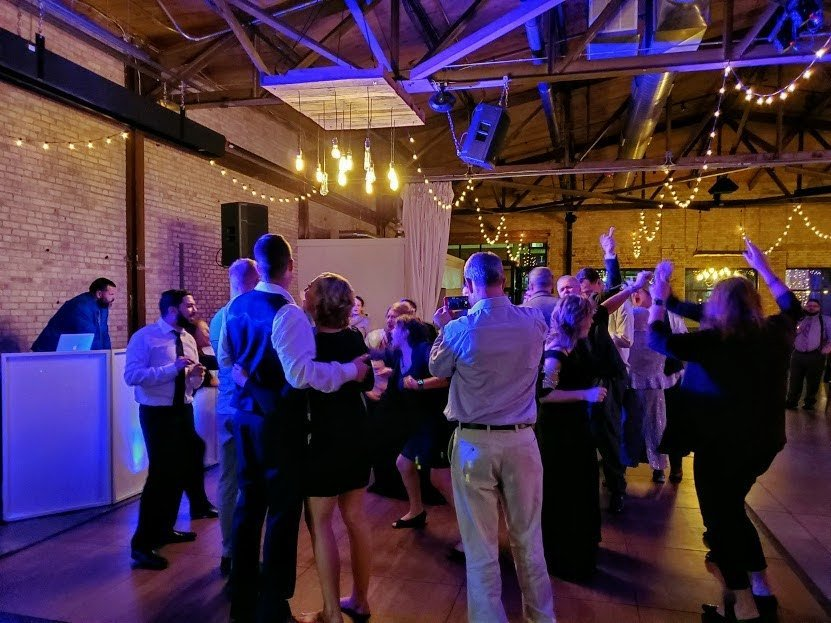 Gather on Broadway with a full dance floor - SoundFire DJ